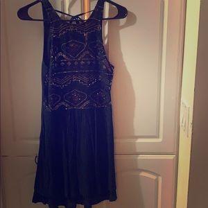 Sexy black dress, embellished